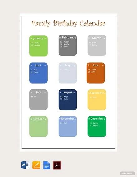 free birthday templates in google docs