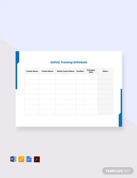 Training Schedule Template Newyear Cooltest Info