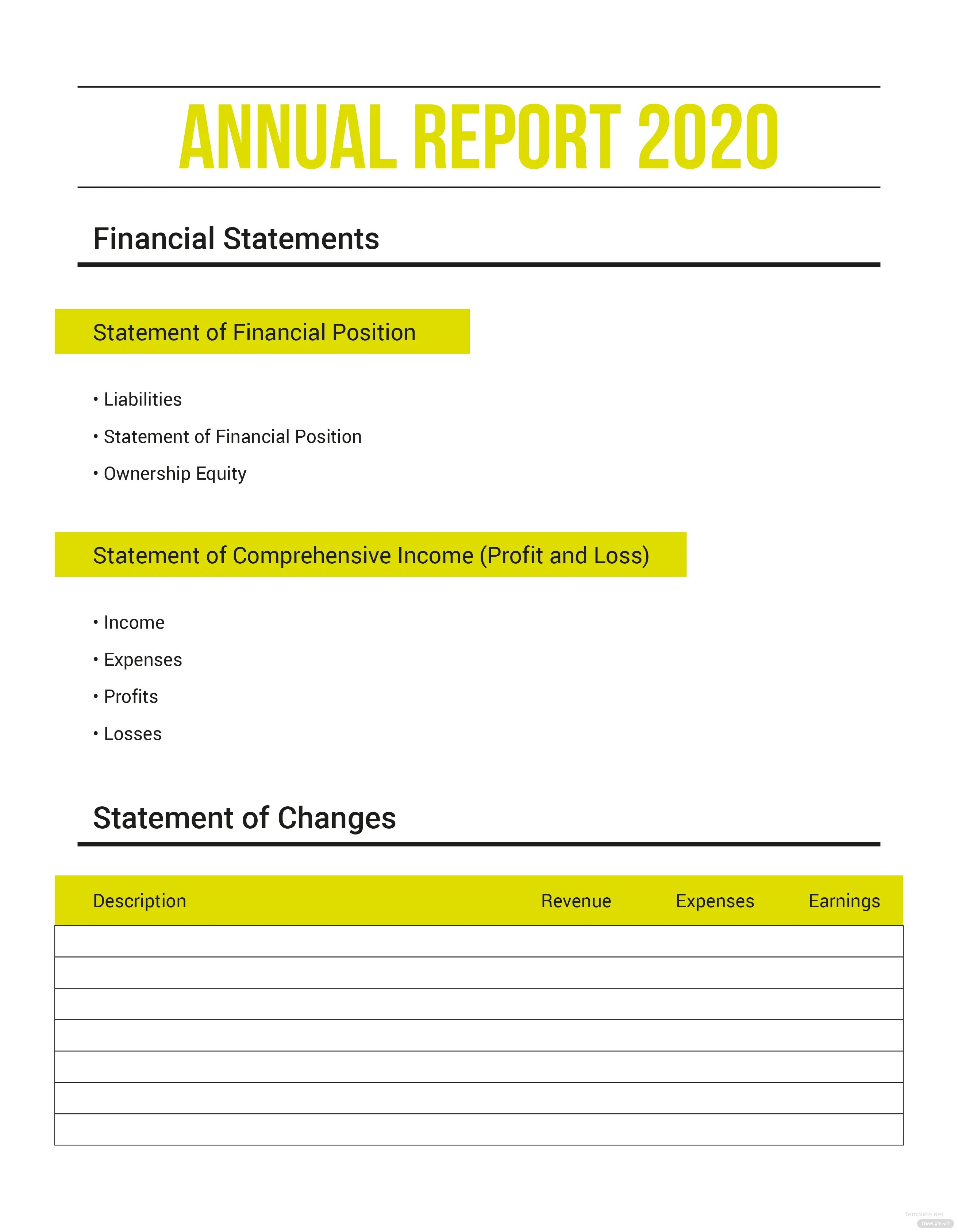 Free Annual Expense Report Template In Microsoft Word