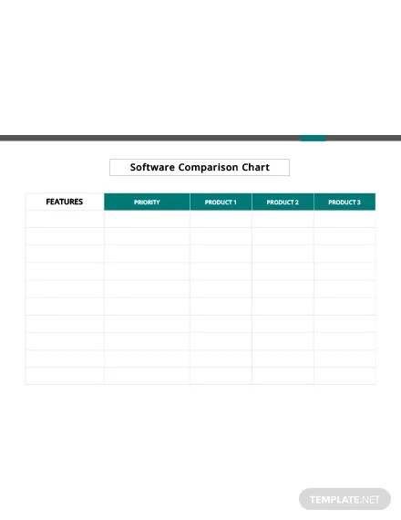 Blank Comparison Chart Template: Download 113+ Charts in