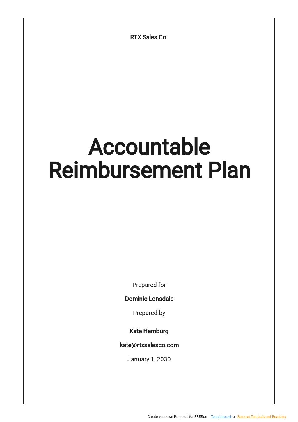 Accountable Reimbursement Plan Template [Free PDF