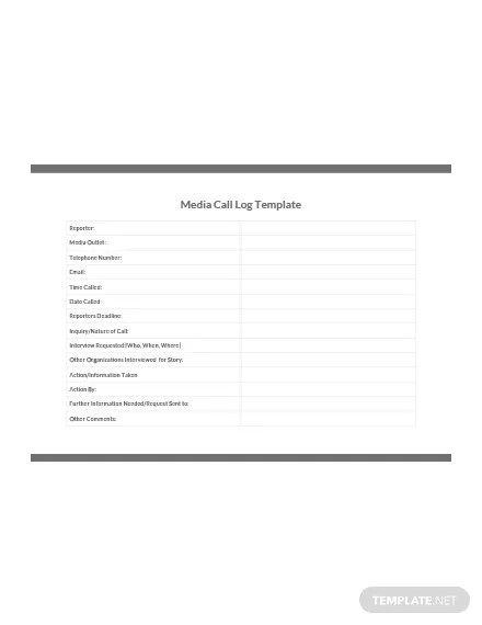 Printable Call Log Template: Download 239+ Sheets in Word