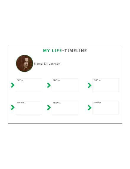 microsoft word timeline template free
