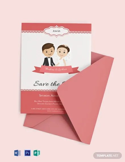 Free Unique Wedding Invitation Card Template Word Psd