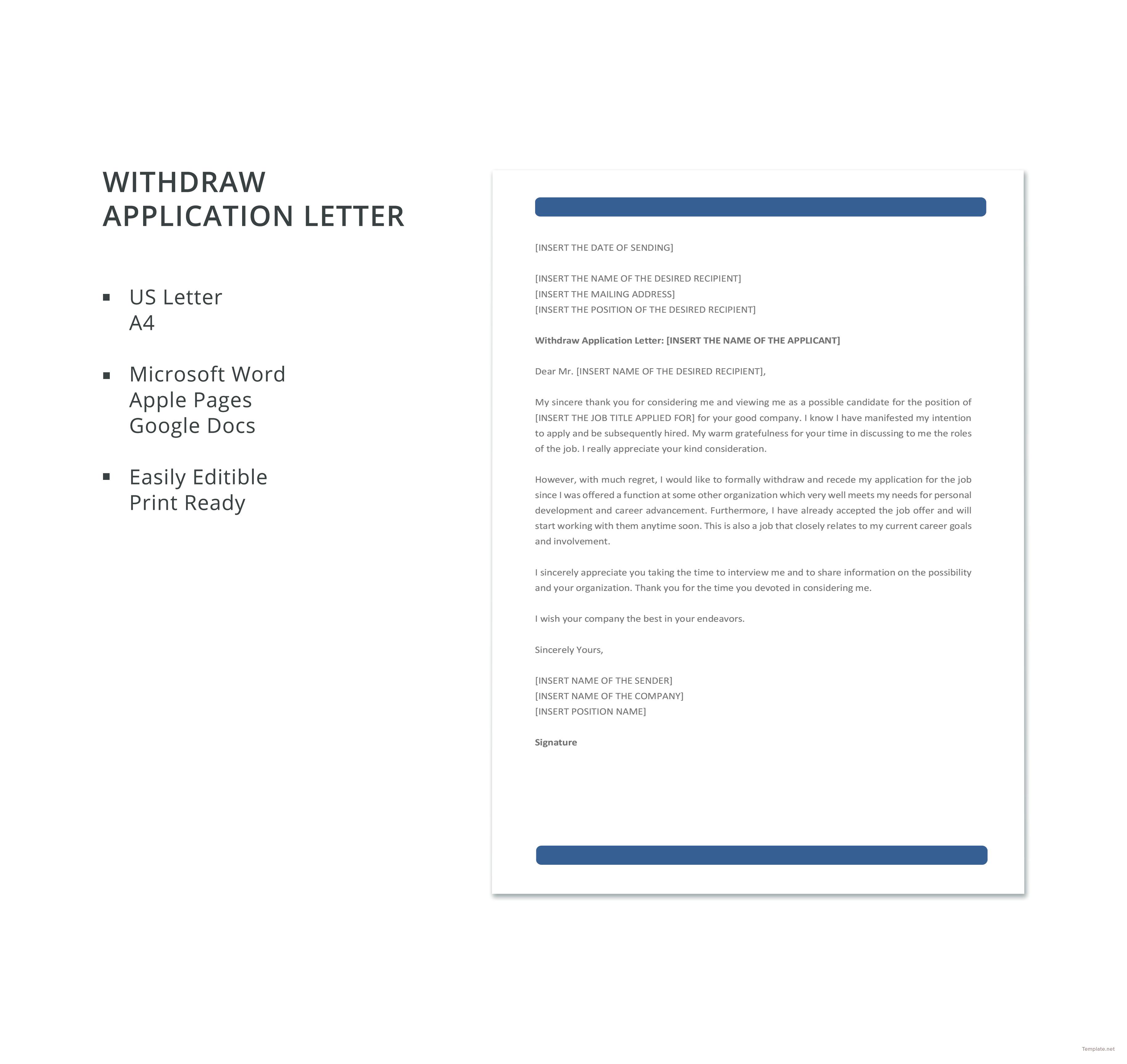 withdrawal of job offer letter template lv crelegant com
