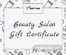 Free Blank Gift Certificate Template in Adobe Illustrator