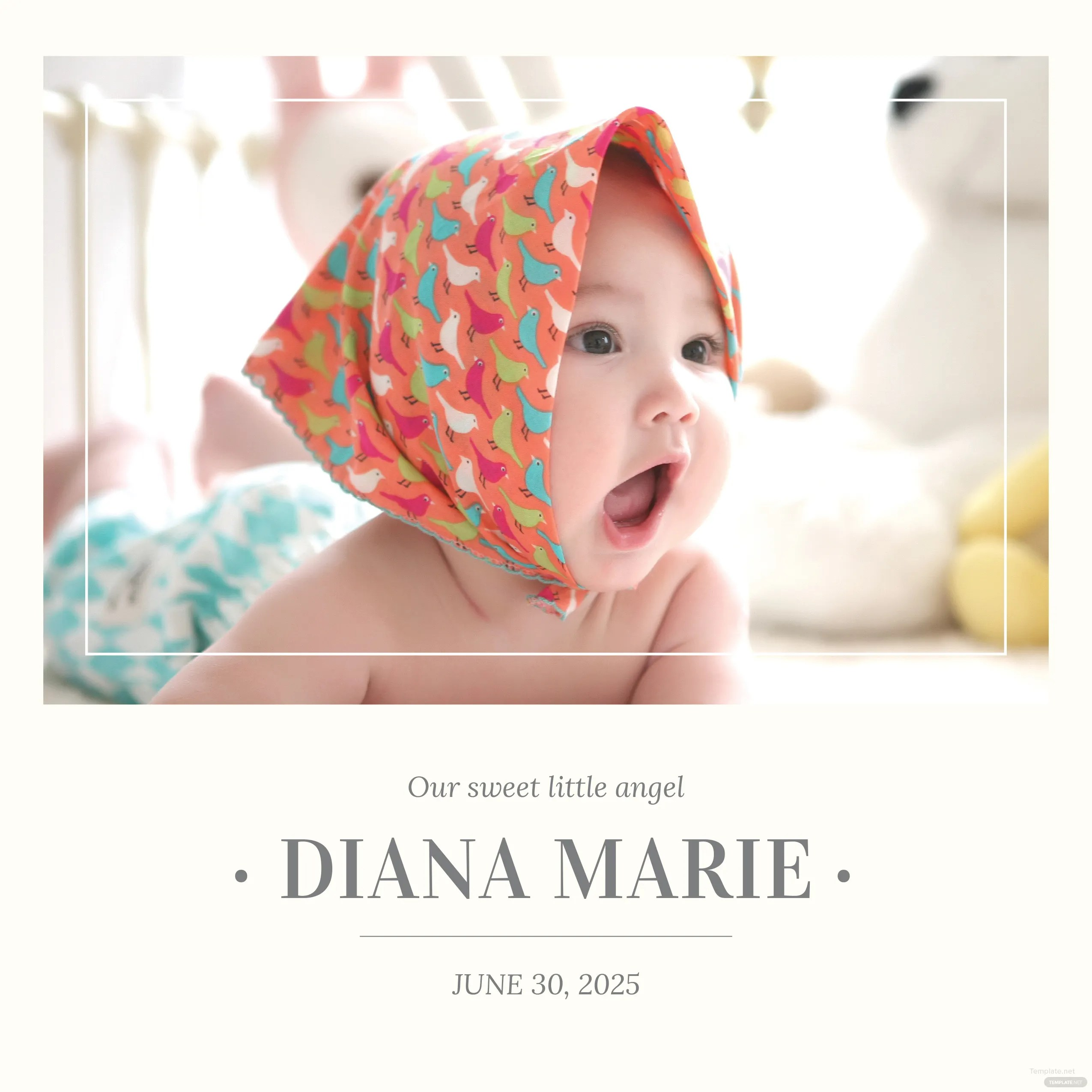 Free Baby Book Cover Template In Adobe Photoshop Illustrator Microsoft Word Publisher Apple