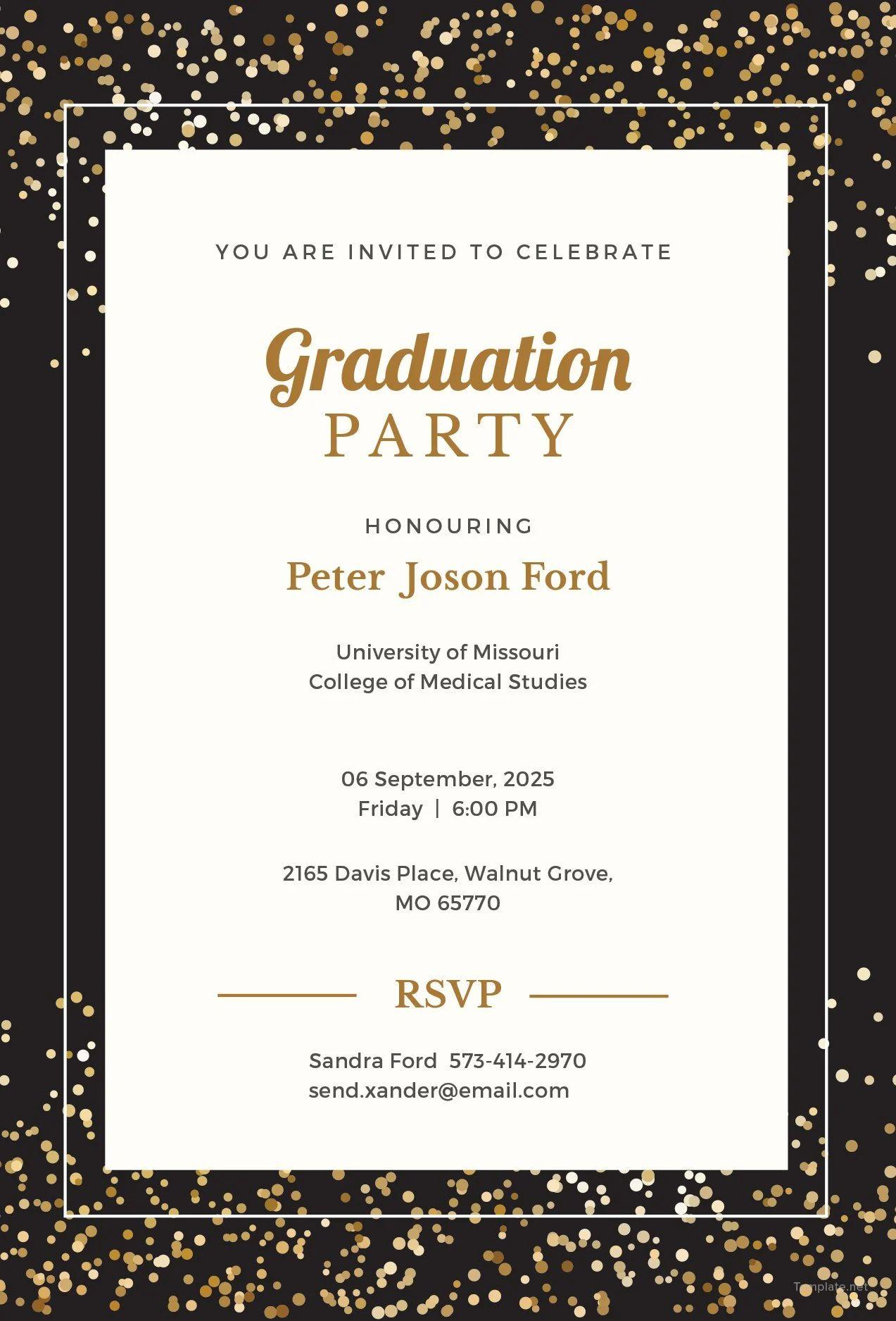graduation invitation templates microsoft word