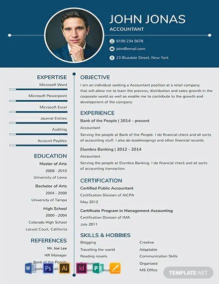 free word one page cv download
