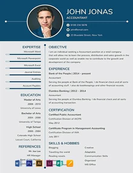 Resume header