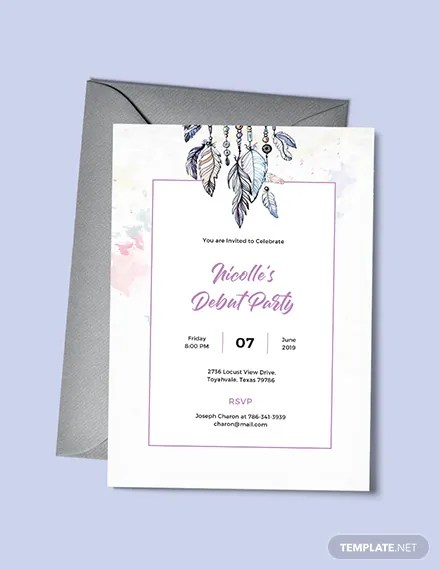 FREE Boho Debut Invitation Template Download 517 Invitations in PSD InDesign Word Publisher
