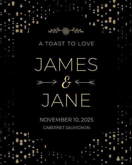 Free Wedding Label Templates   Free Templates