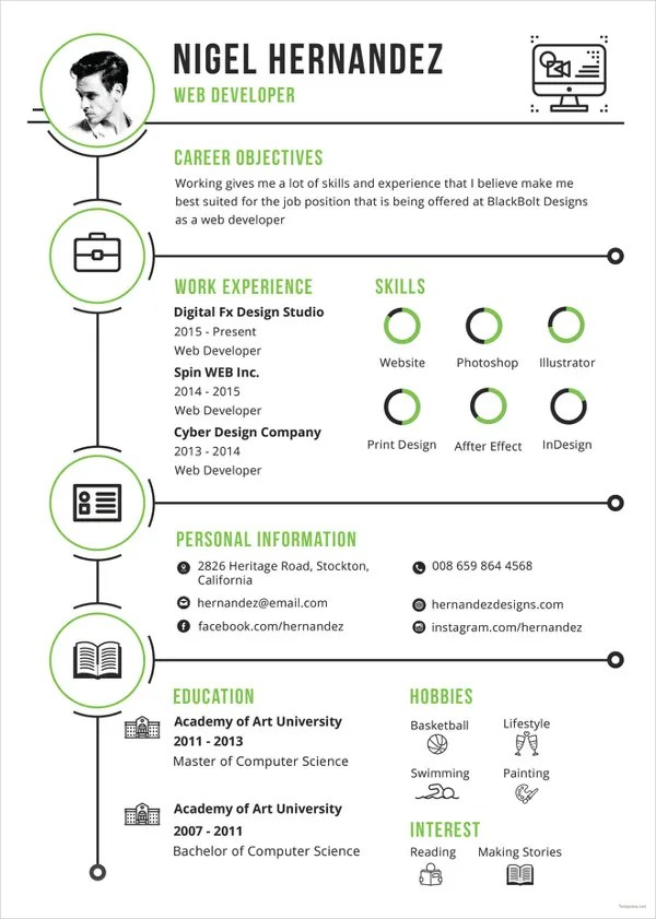 33 Infographic Resume Templates  Free Sample Example Format Download  Free  Premium Templates