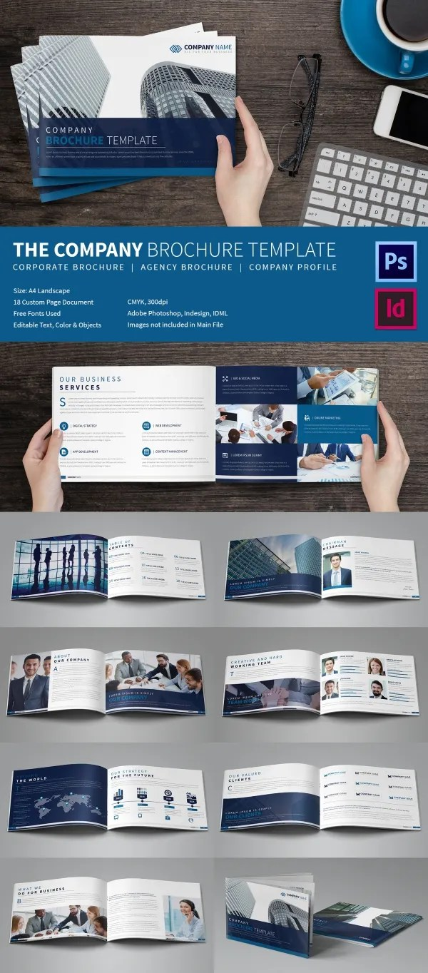 20 Best Free And Premium Corporate Brochure Templates