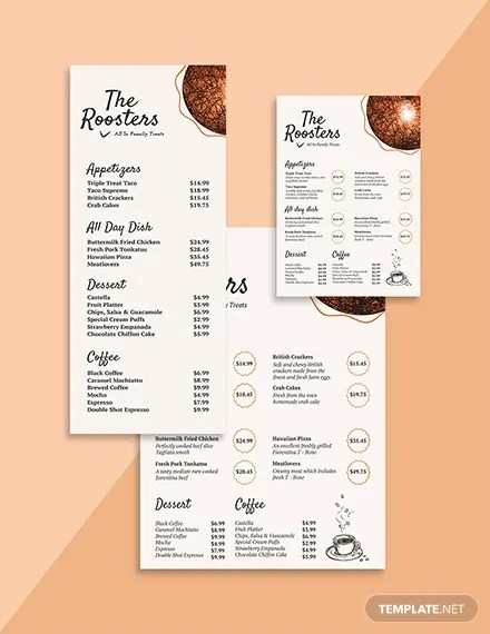 47 Menu Card Templates