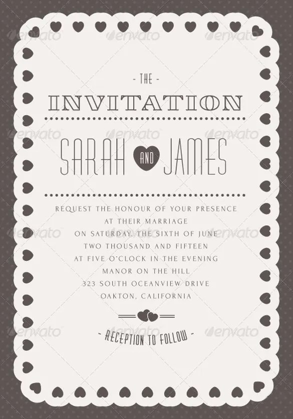 Wedding Invitation Design Set
