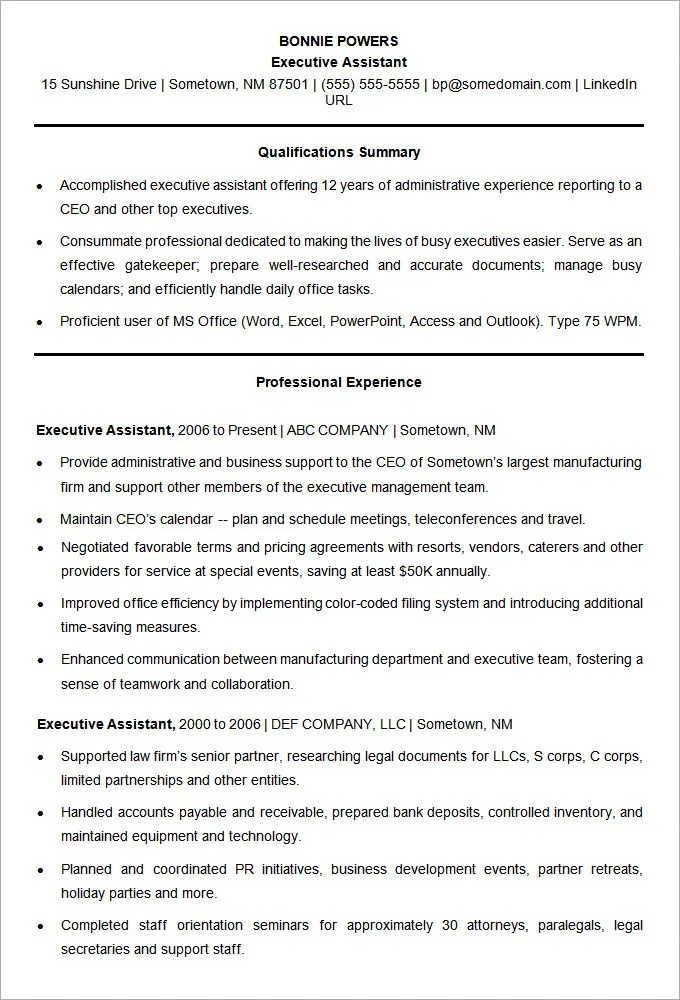 Microsoft Word Resume Template - 49+ Free Samples, Examples, Format ...