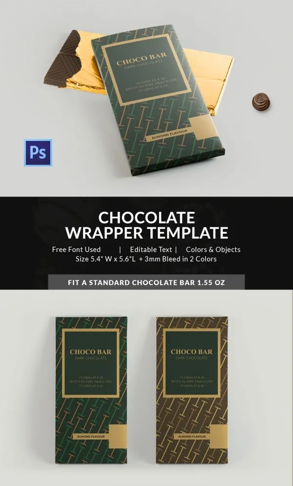 25 Excellent Chocolate Packaging Designs  Free  Premium Templates