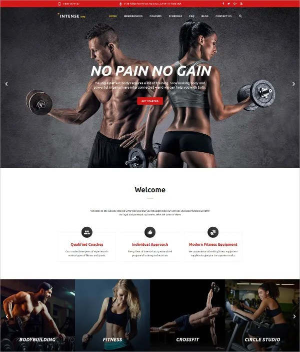 28 Gym & Fitness Website Themes & Templates Free