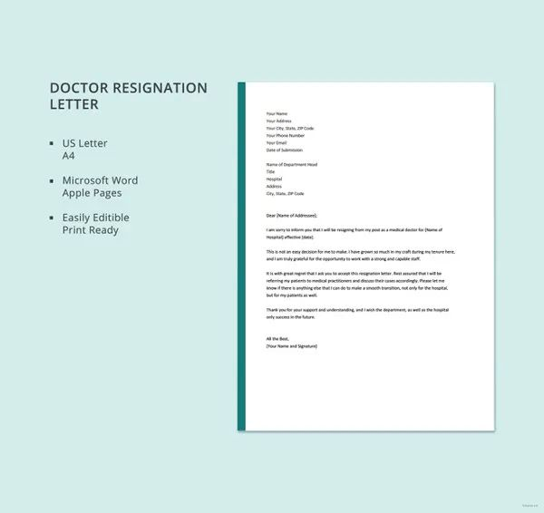 simple letter of resignation template