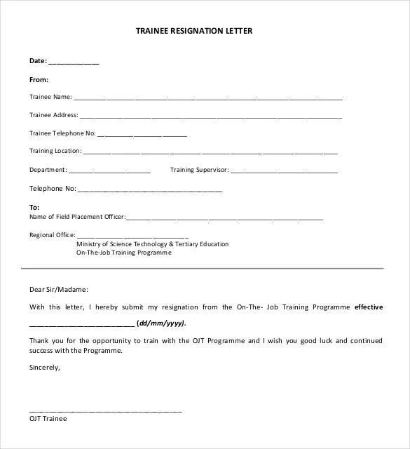 28+ Simple Resignation Letter Templates - PDF, DOC | Free & Premium ...