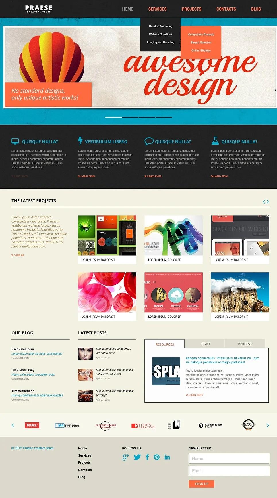 13 Creative Website Templates for Designers  Free  Premium Templates