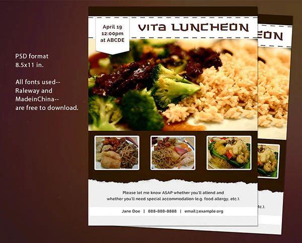 business luncheon invitation template