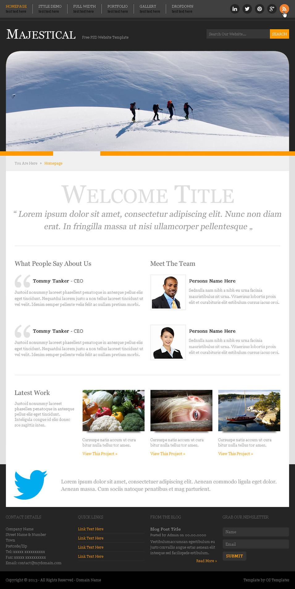 60 Free PSD Website Templates Free  Premium Templates