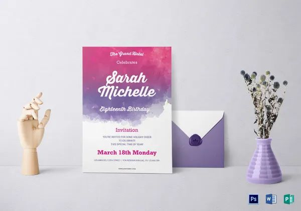 invitation debut designs