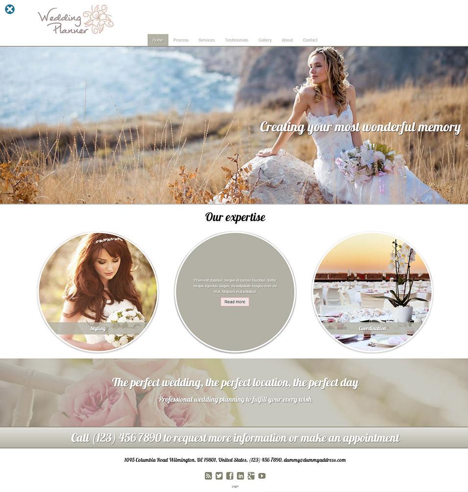 Best Wedding Event Planner Website Templates