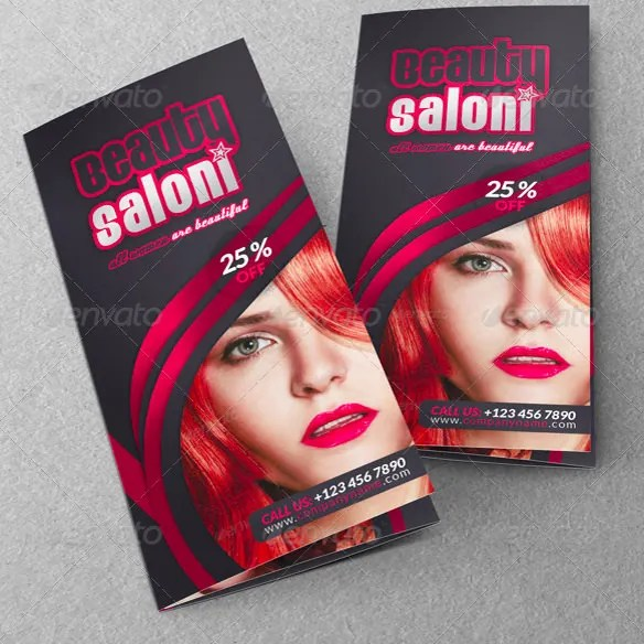 34 Beauty Parlour Brochure Templates PSD InDesign
