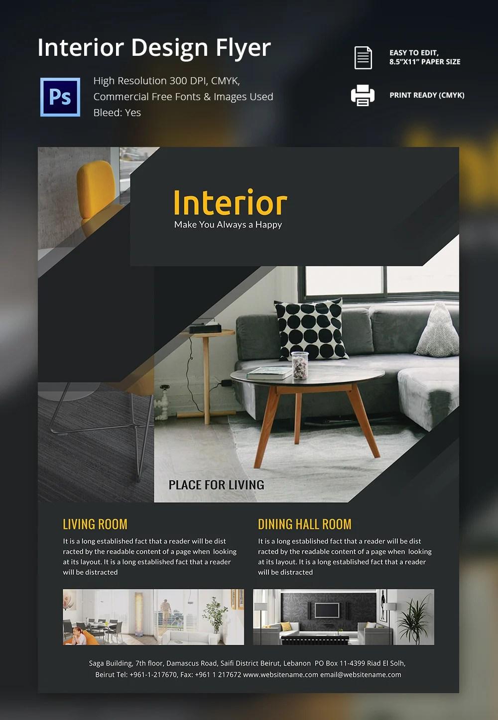 Interior Design Brochure 25 Free PSD EPS InDesign