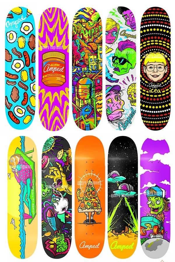 40 Best Skateboard Creative Designs for your Inspiration  Free  Premium Templates