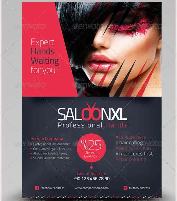 71+ Beauty Salon Flyer Templates - Free PSD, EPS, AI, Illustrator ...