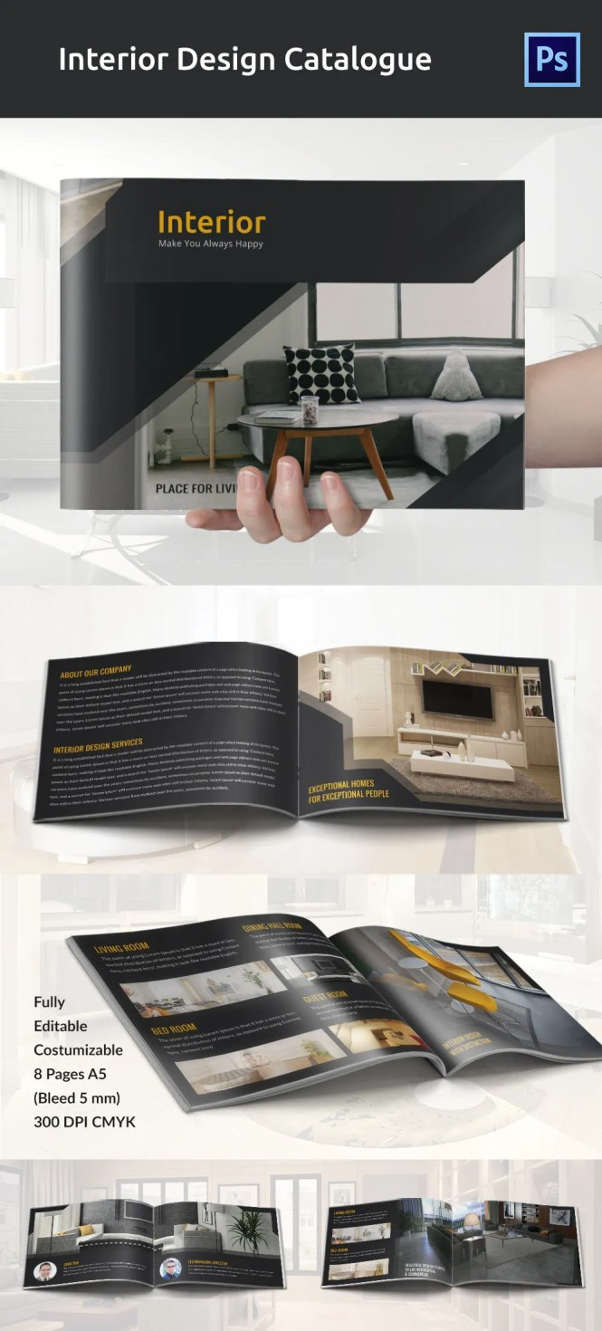 Modern Brochure Template Is Especially For Furniture Home Decor Companies And So On Which Easy To Change Texts Most Importantly Doent Instruction