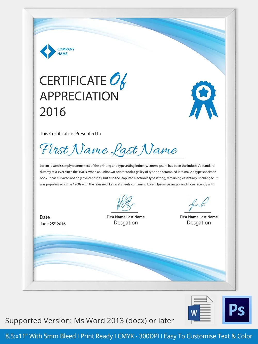 samples of certificate of recognition