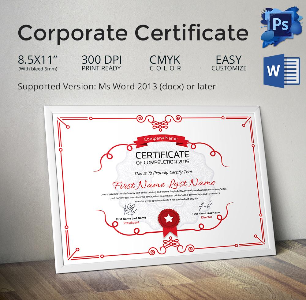 diploma certificate format in word