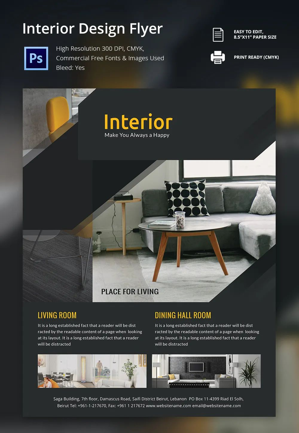 interior decoration brochure
