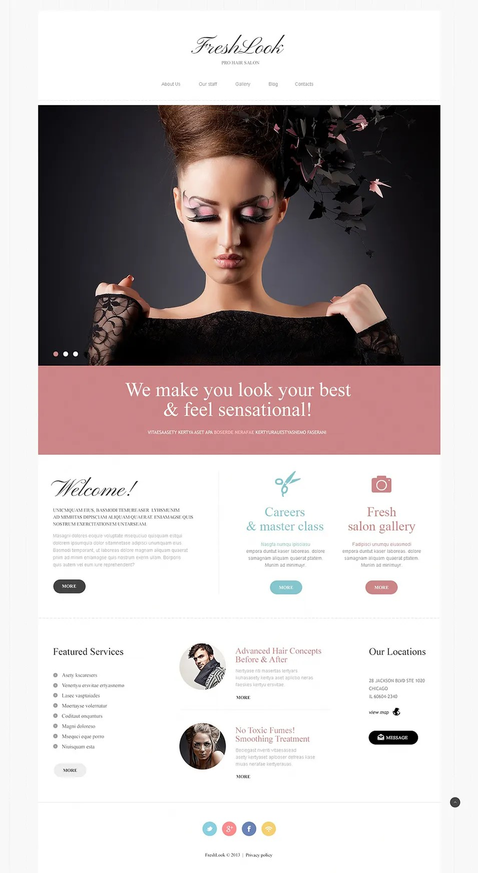 11+ Professional Website Themes & Templates for Hairstylists   Free & Premium Templates