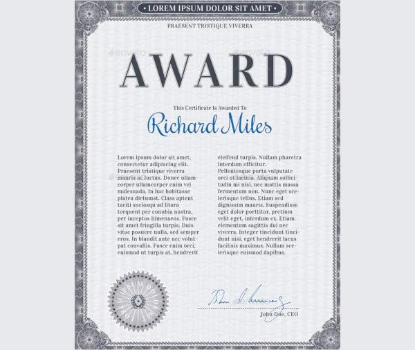 83+ Creative Custom Certificate Word, PSD, AI Design