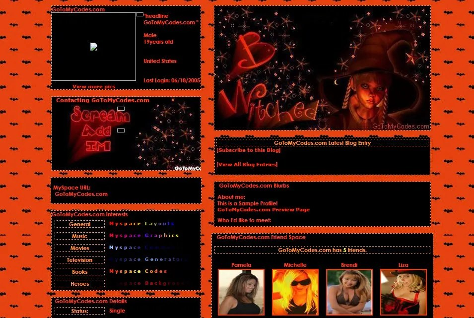 44 MySpace Halloween Themes & Templates Free & Premium