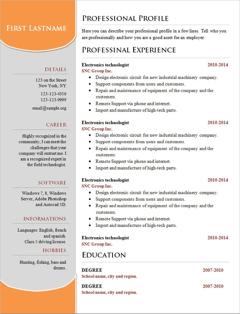Resume Layout Examples 70 Basic Resume Templates Pdf Doc Psd Free Premium Templates