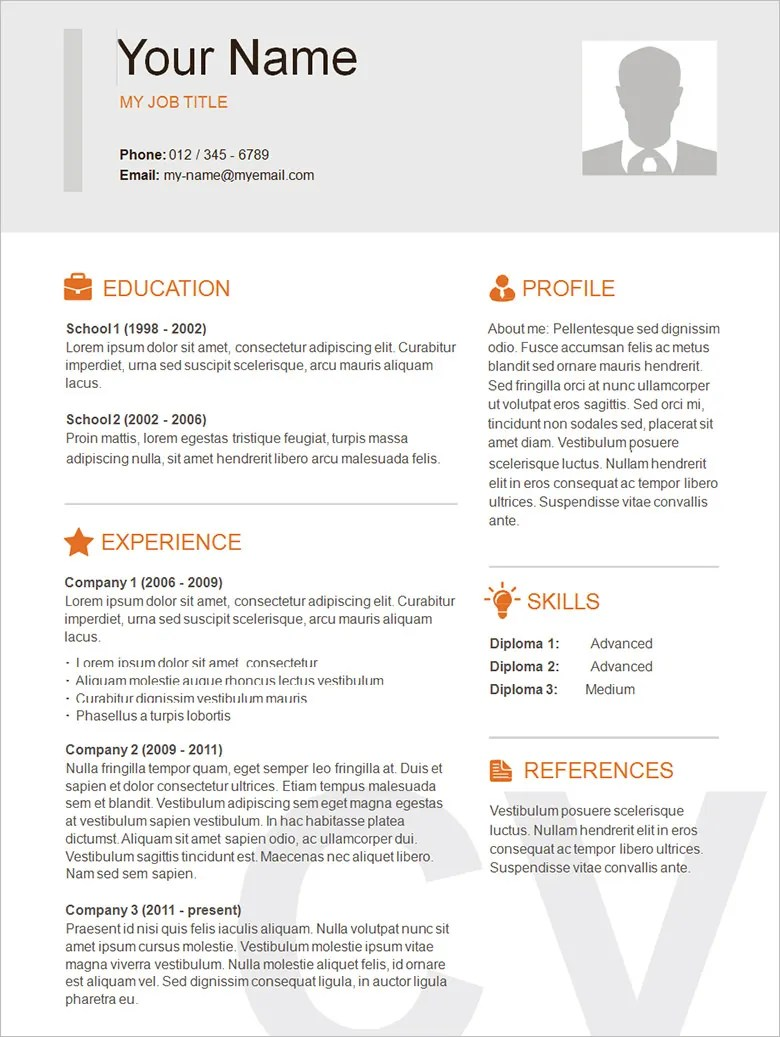 Simple Resumes Examples 70 Basic Resume Templates Pdf Doc Psd Free Premium Templates