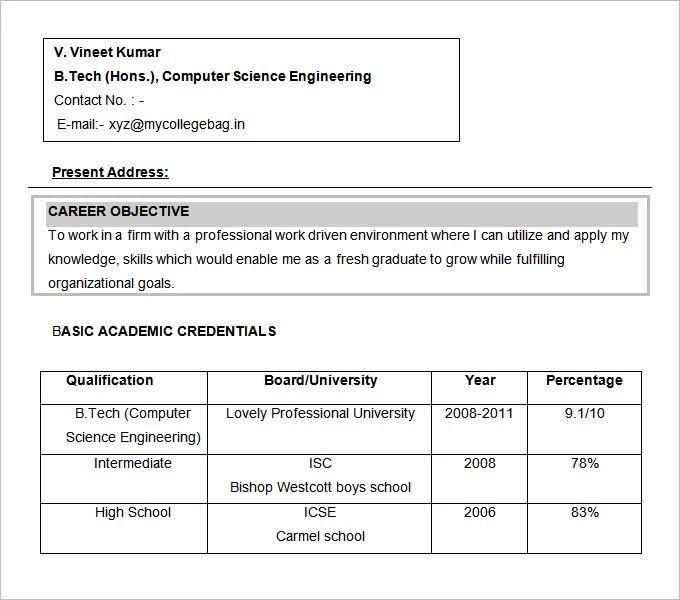 computer engineering objective resume