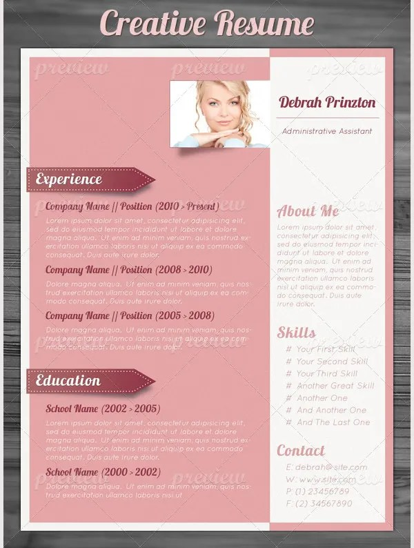 Creative Resume Template  79+ Free Samples, Examples