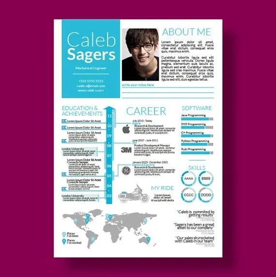 33 Infographic Resume Templates Free Sample Example