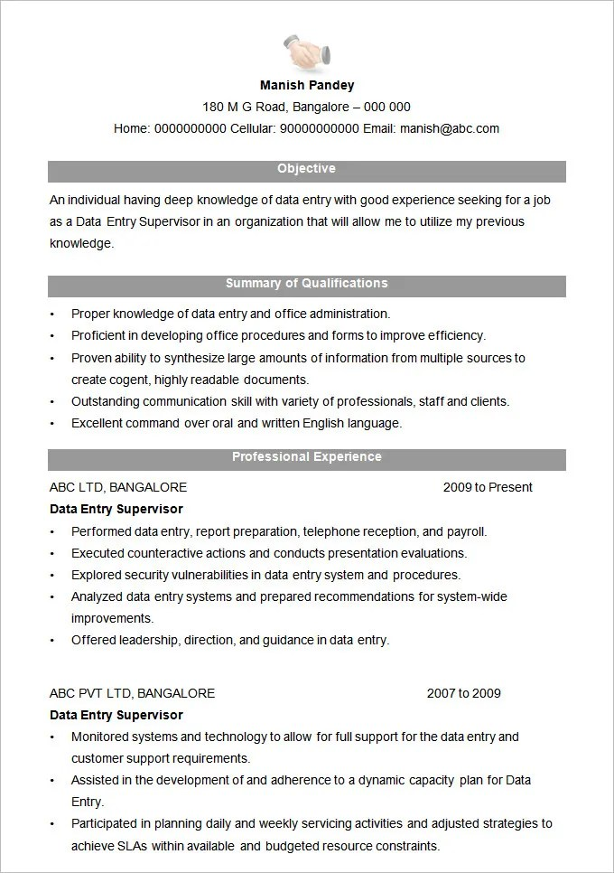 Microsoft Word Resume Template  99 Free Samples Examples Format Download  Free  Premium