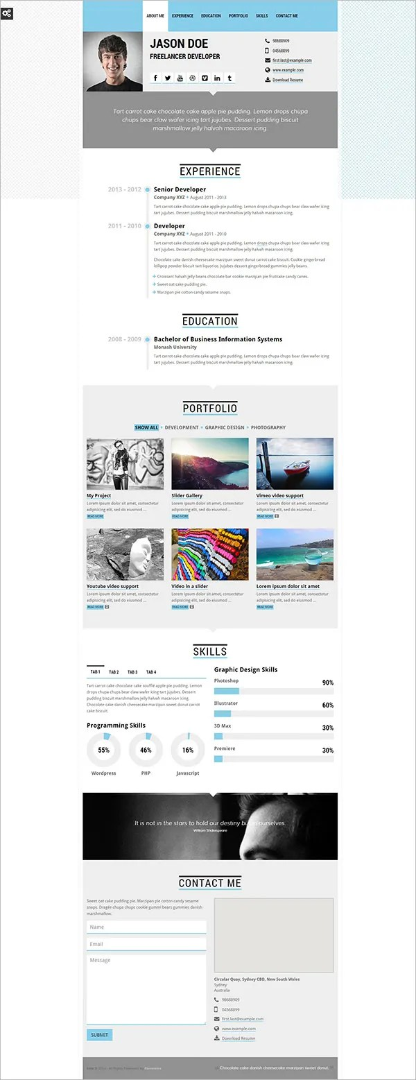 Forte One Page Template For Resumes2
