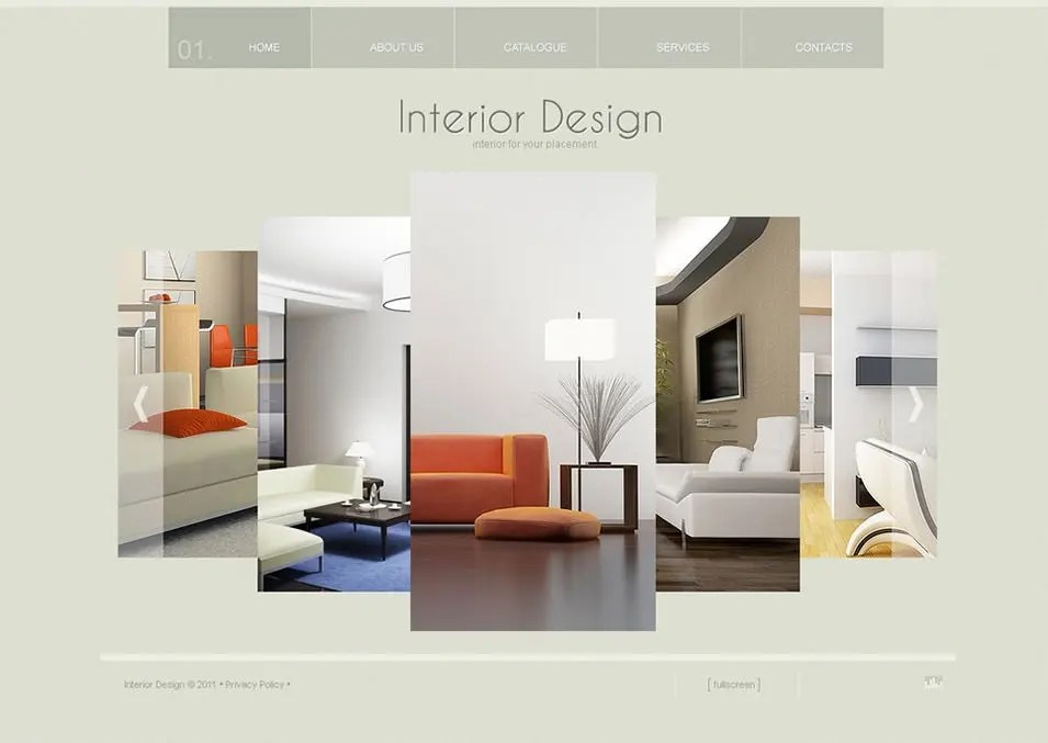 Interior Design Templates Interior Design Responsive Website