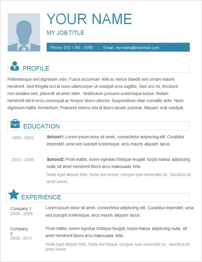 Sample Simple Resume Zadluzony
